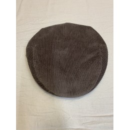 Casquette en velour marron